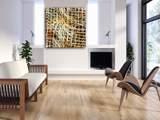 Random Precision IV - Large original Abstract painting