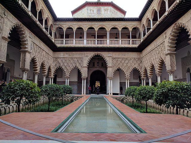 Palais Mudejar, cour des Demoiselles, Alcazar, Séville