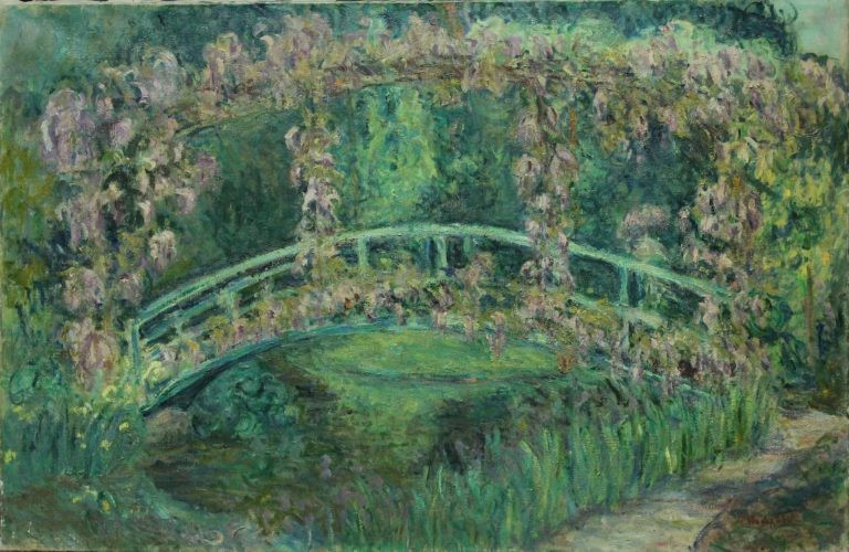 Blanche Hoschedé, jardin Giverny, toile
