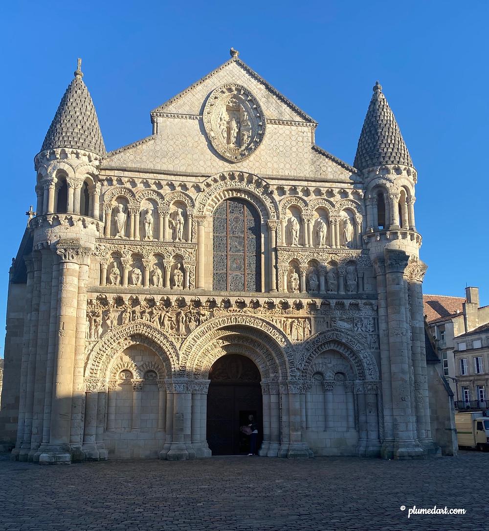 Notre Dame la Grande, façade occidentale, décor sculpté, art roman