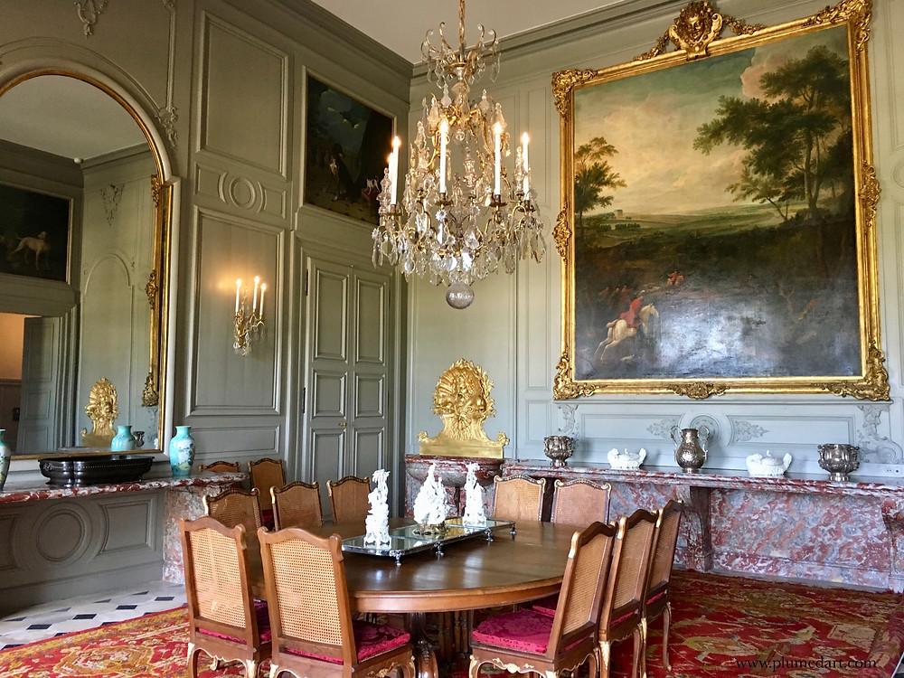 Champs sur Marne, château Ile de France, salle à manger, intérieur, pièce d'apparat