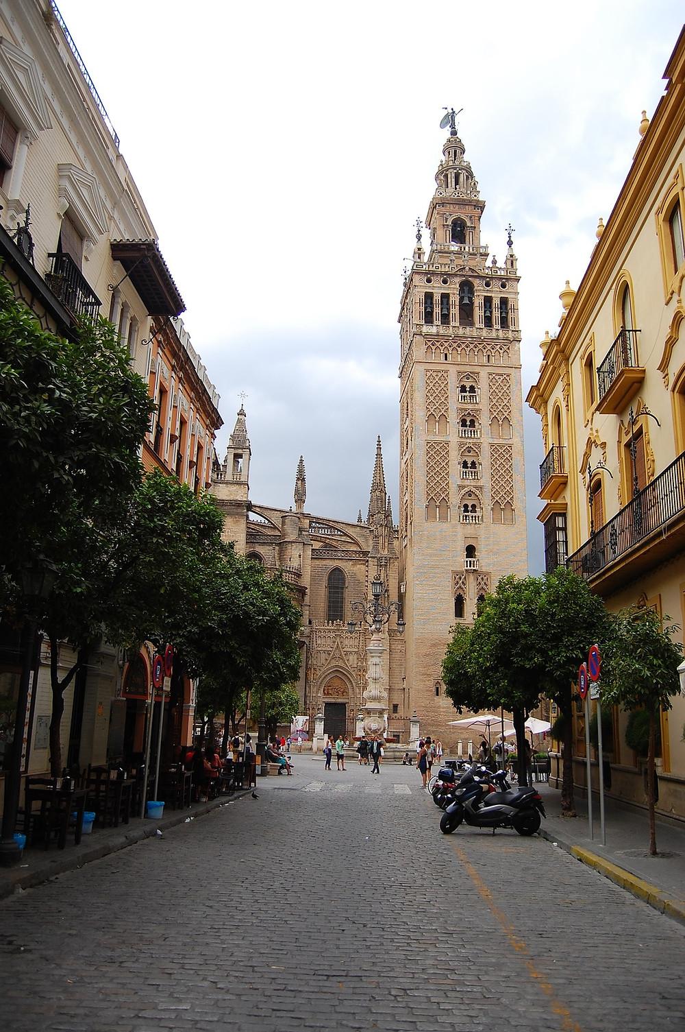 Giralda, cathédrale Séville, Mosquée, Minaret, Andalousie