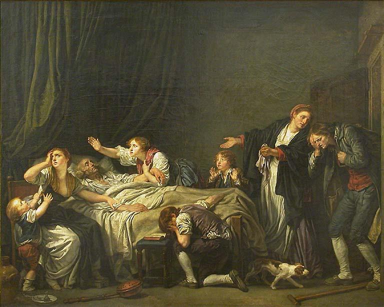 la malédiction paternelle, Greuze, le fils puni, musée du Louvre, peinture française