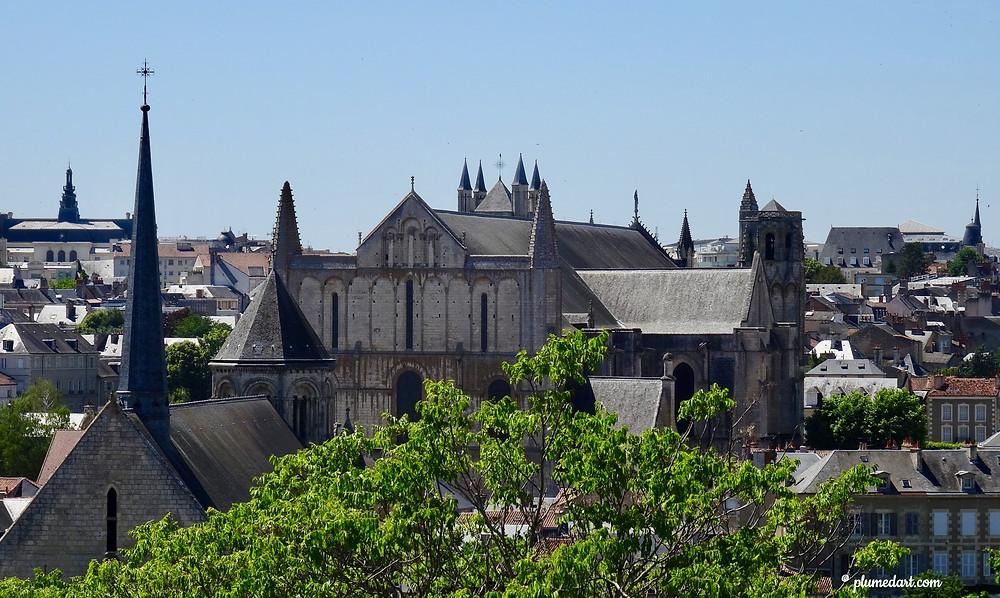 cathédrale Saint-Pierre, Poitiers, Aliénor d'Aquitaine, panorama poitiers