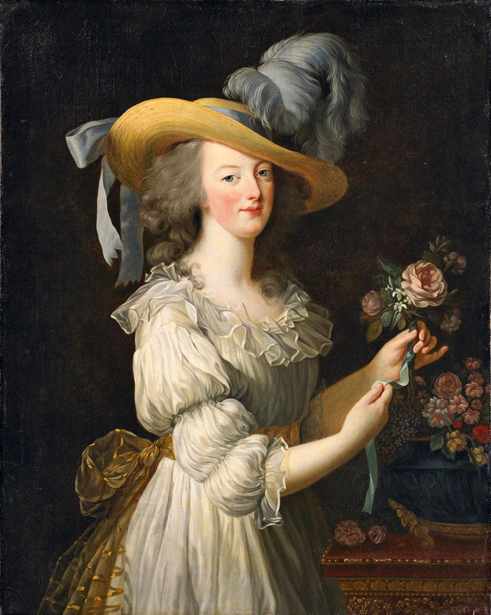 Marie-Antoinette, mousseline, Elisabeth Vigée Lebrun