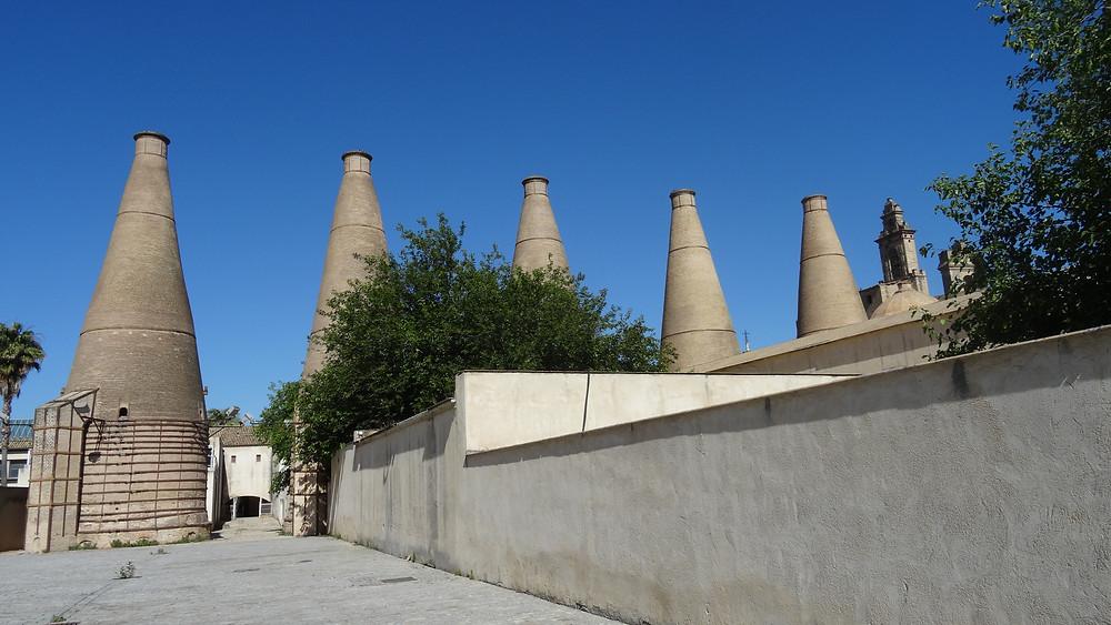 Séville, Andalousie, Exposition universelle, Espagne, cheminée, usine de faïence, Monastère de la Cartuja