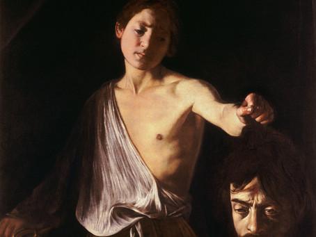 David tenant la tête de Goliath : l'impossible rédemption du Caravage