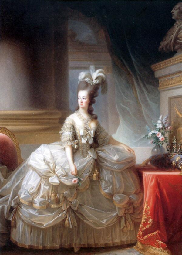 Marie-Antoinette en robe de satin blanc, Vienne, Elisabeth Vigée-Lebrun