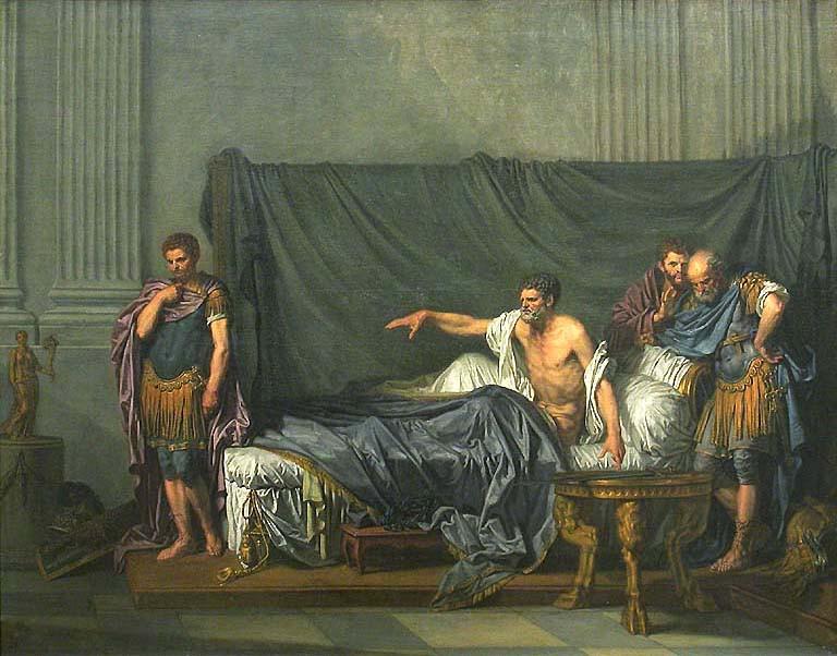 Septime Sevère et son fils Caracalla, musée du Louvre, Greuze peinture française néo classique