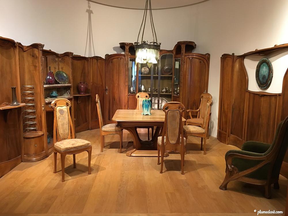 Hector Guimard, petit Salon hôtel Guimard, Petit palais, musée, Art nouveau