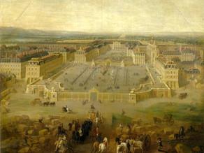 La cour d'honneur, la cour royale et la cour de marbre du château de Versailles