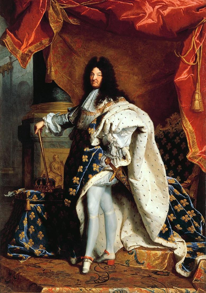 portrait de Louis XIV en costume de sacre par Hyacinthe Rigaud