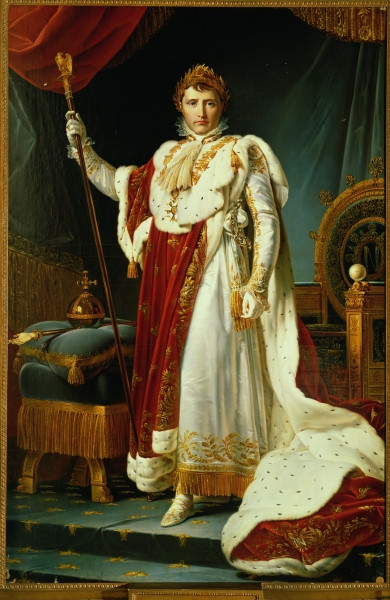 Napoléon Ier en costume de sacre par le baron Gérard 1804