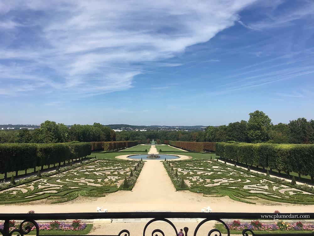 jardin à la française, Le Nôtre, perspective, plan d'eau, fontaine, jardins de Versailles, château Ile de France, Champs sur Marne