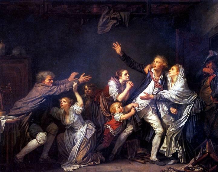 La malediction paternelle, le fils ingrat, Greuze, musée du Louvre, peinture française