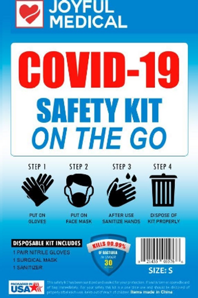 Joyful Medical COVID 19 Mini PPE Kit (Pack of 10)