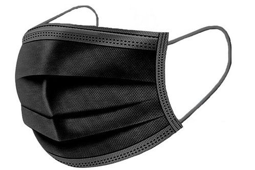 Black 3 Ply Face Mask
