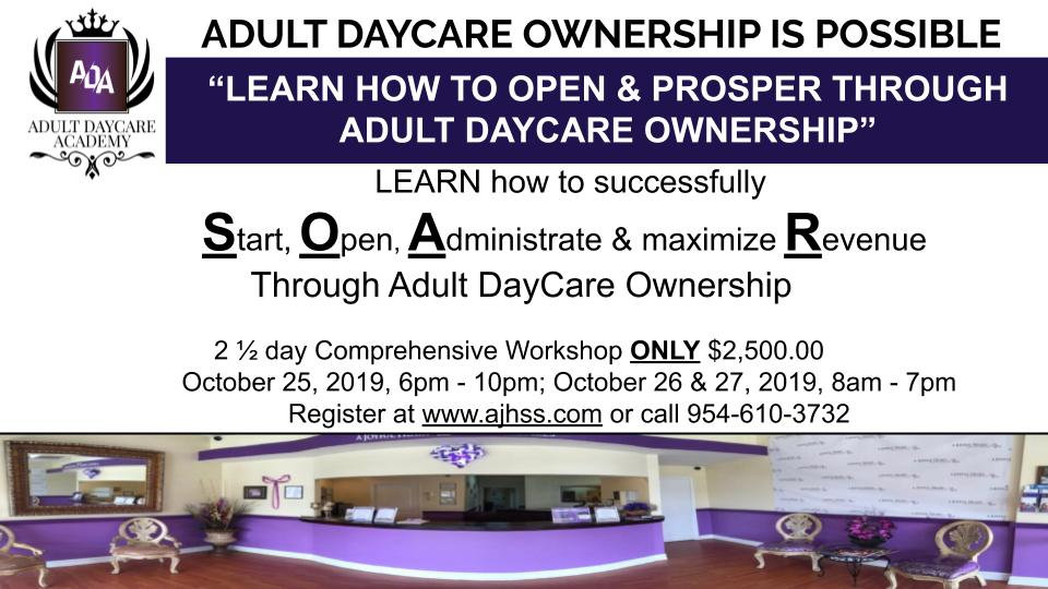 Adult DayCare Academy Workshop