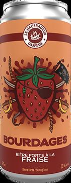 Le Naufrageur   Bourdages   Bière forte aux fraises