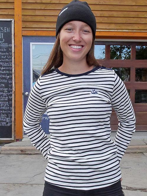 Marinière tricot Rayé pour dame