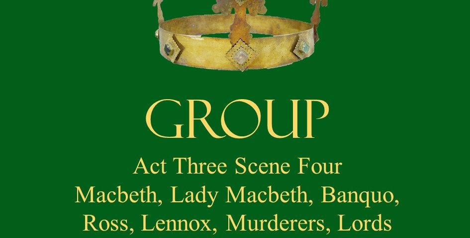 Macbeth, Lady Macbeth, Banquo, Lennox, Ross, Murderers, Lords