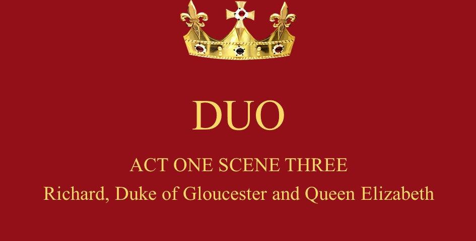 Richard, Duke of Gloucester and Queen Elizabeth