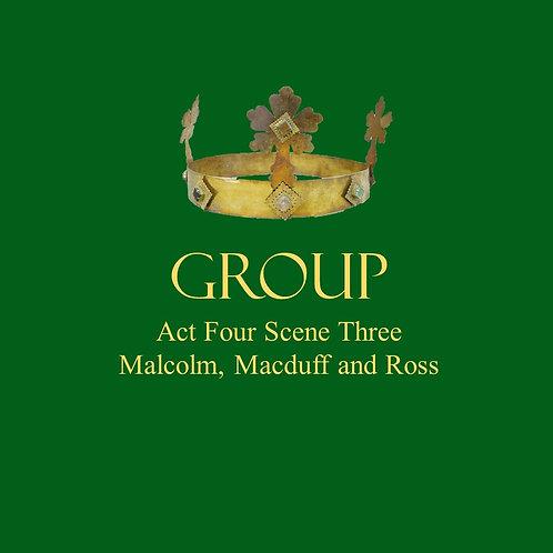 Malcolm, Macduff, Ross