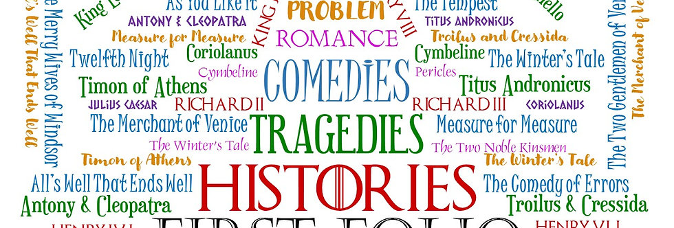 SHAKESPEARE GENRE WORD CLOUD WHITE