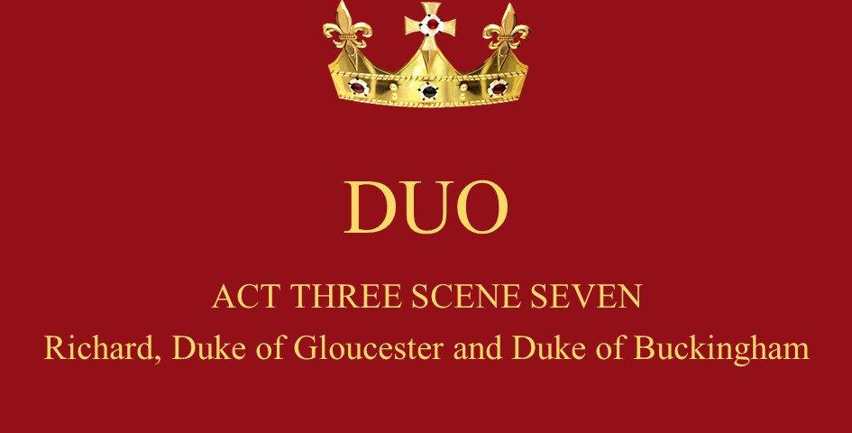 King Richard III and Buckingham