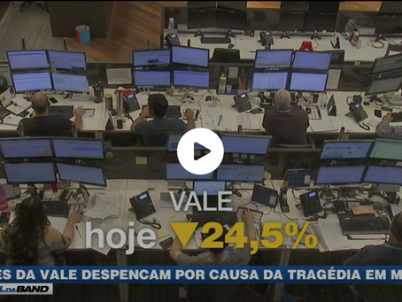 Ações da Vale despencam por causa da tragédia em Minas