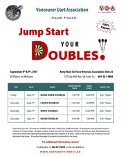 Jump Start your Doubles Sept 8 & 9 2017!
