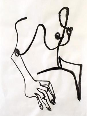 Svea Bischoff. per-meare. inchiostro. 75 x 50 cm. 2018.