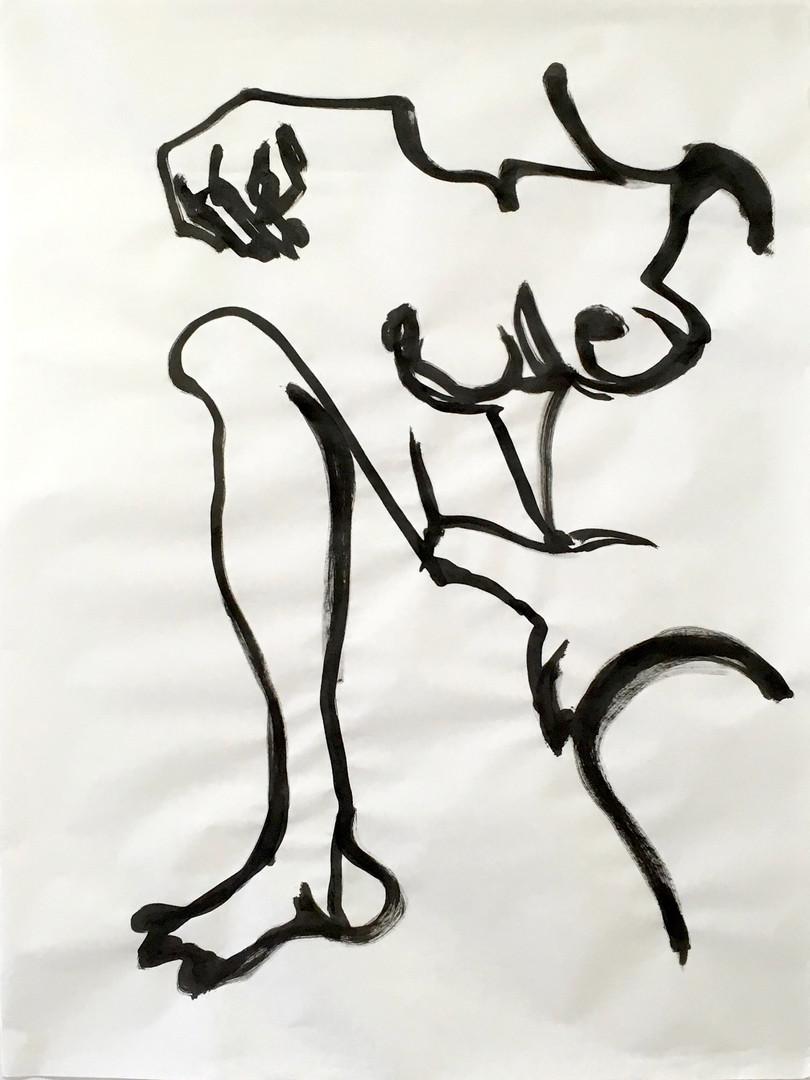 Svea Bischoff. per-meare. inchiostro. 100 x 75 cm. 2018.