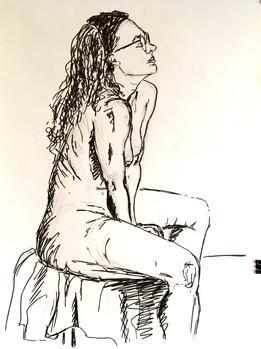 Svea Bischoff Life Drawing, Akt 2017