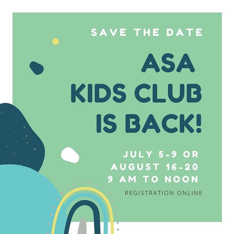 Kids Club: August 2021