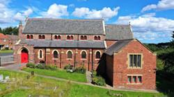Exterior of Kimblesworth church