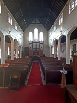 Interior of Kimblesworth church