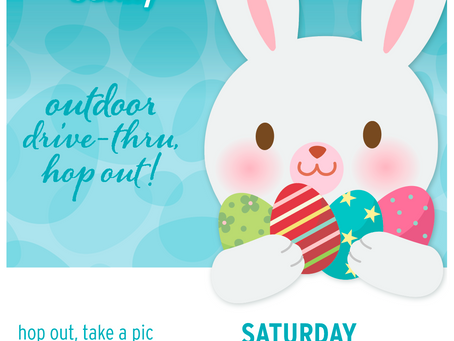 Easter Sunday and Pictures with the Easter Bunny