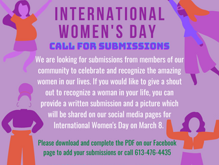 International Women's Day call for submissions!