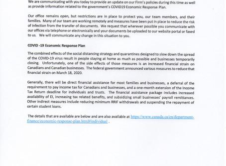GOVERNMENT RESPONSE COVID 19