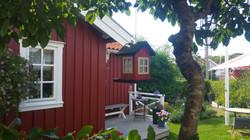 Casette rosse in legno
