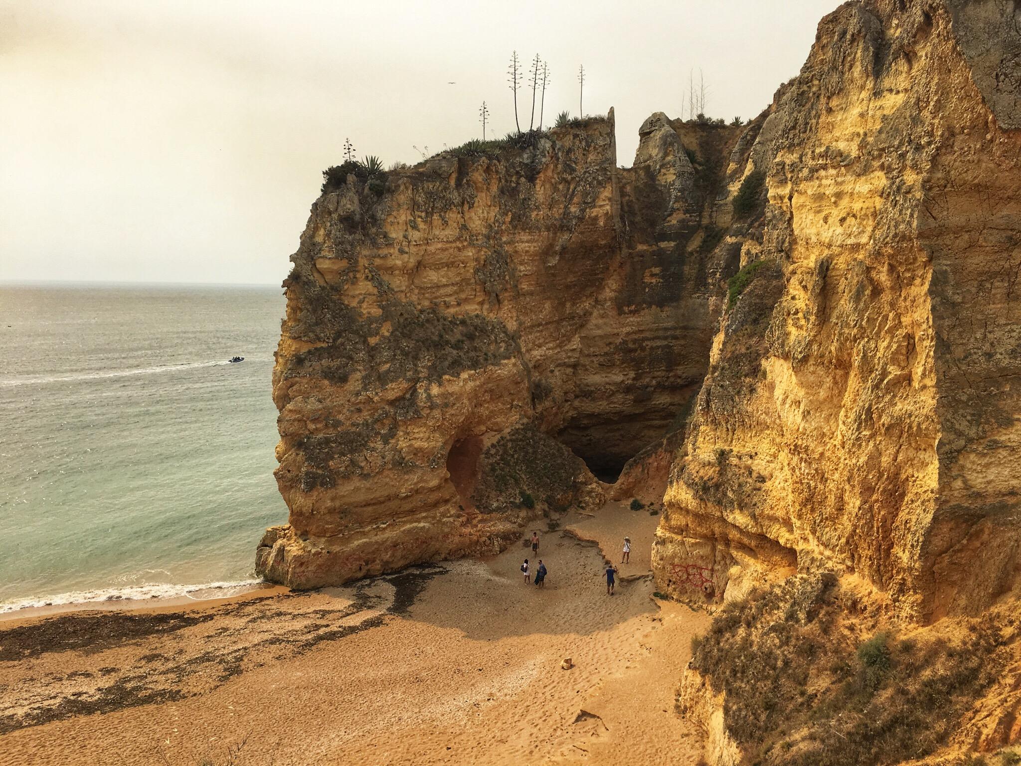 Spettacolari scogliere a Lagos Algarve