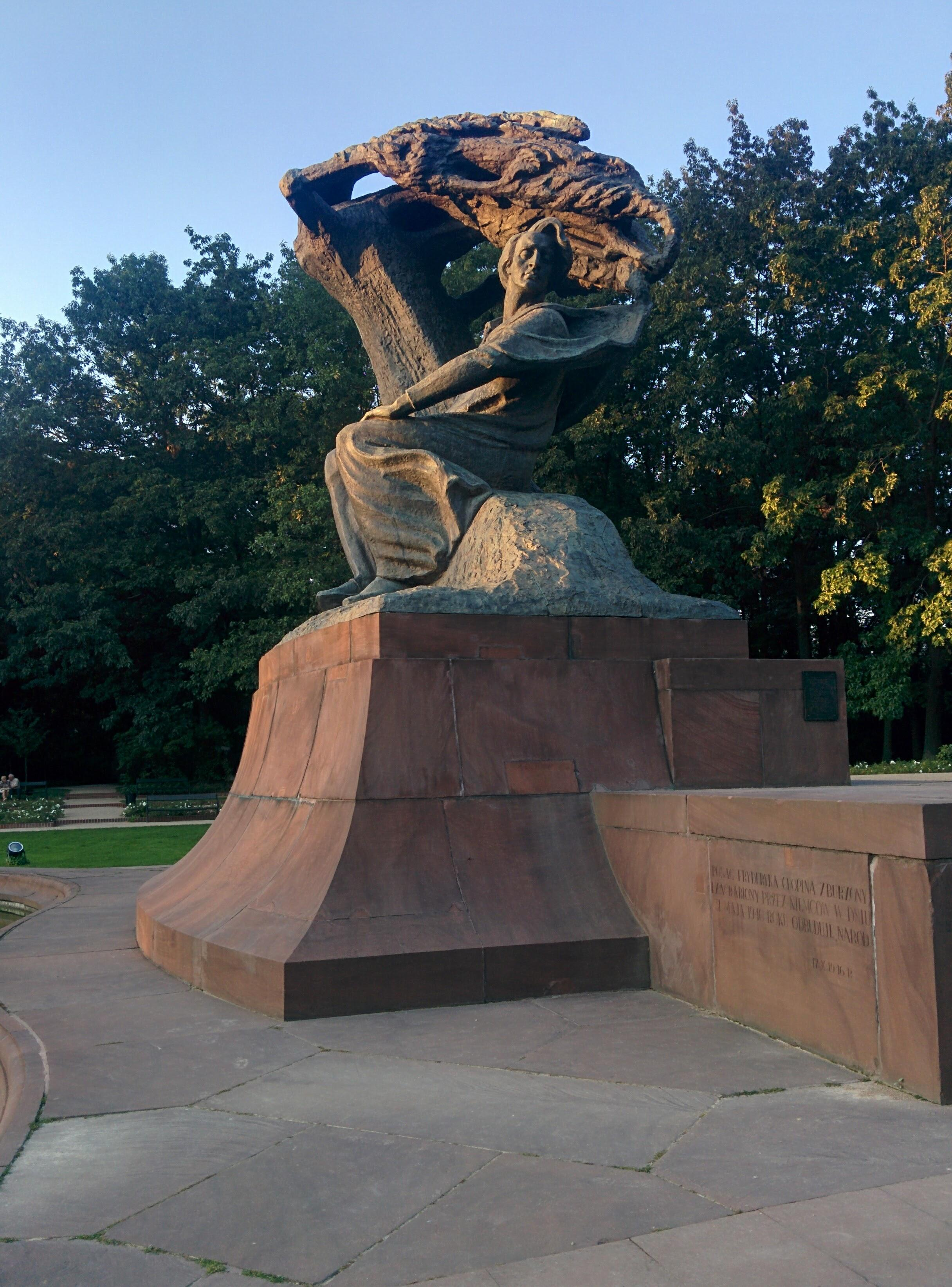 Una statua di Chopin