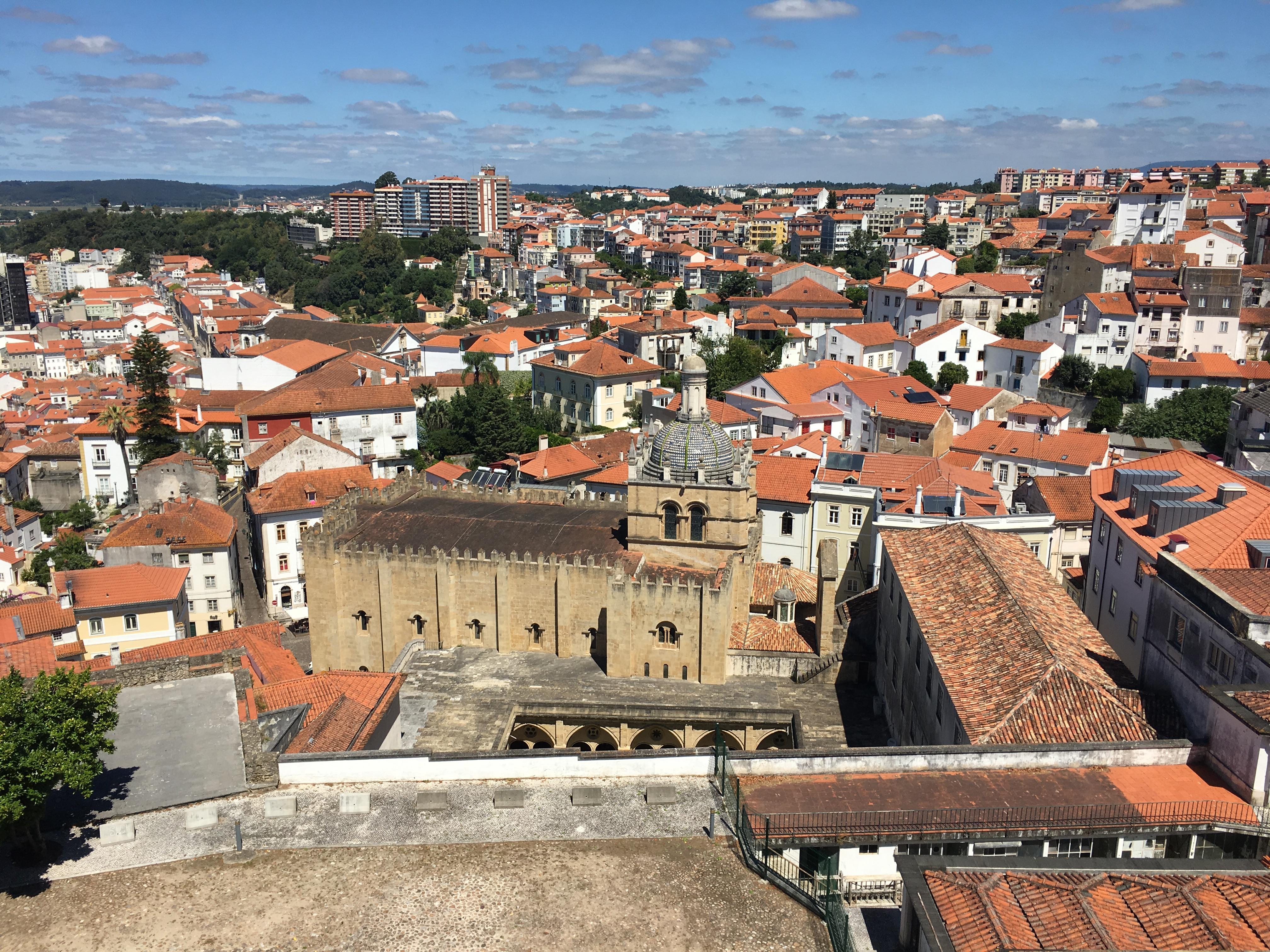 Vista sui tetti di Coimbra