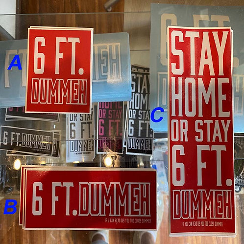 6 FT DUMMEH - Red Set