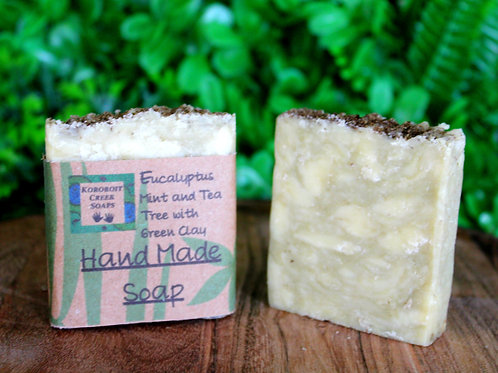 Eucalyptus Mint and TeaTree with Green Clay Soap Bar
