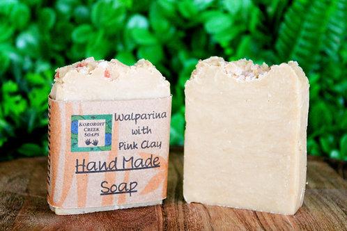 Walparina Pink Clay Soap Bar