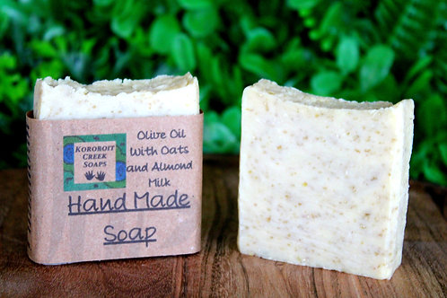 Unscented 100% Olive Oil with Oats and Almond Milk Soap Bar