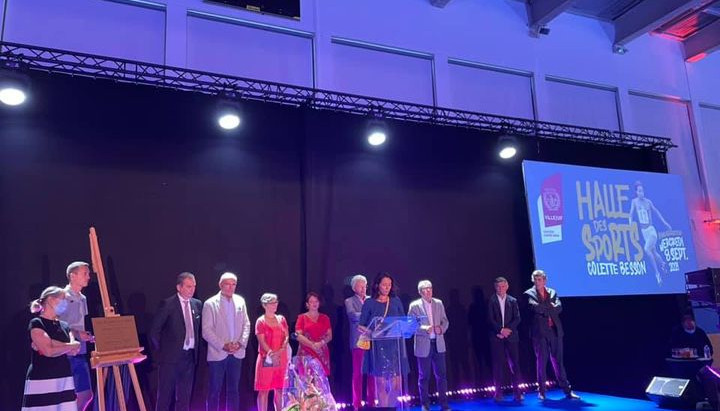Inauguration de la halle des sports Colette Besson