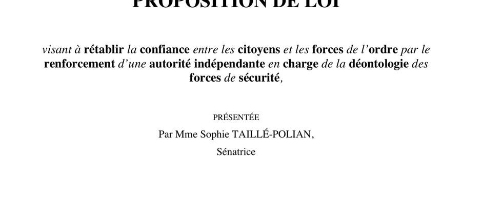 Proposition de loi pour réformer l'IGPN
